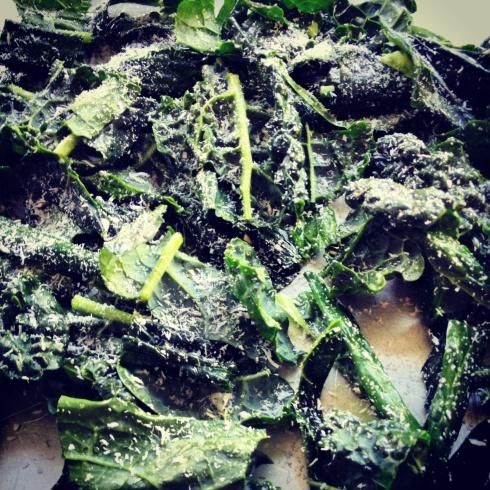 crispy coconut kale