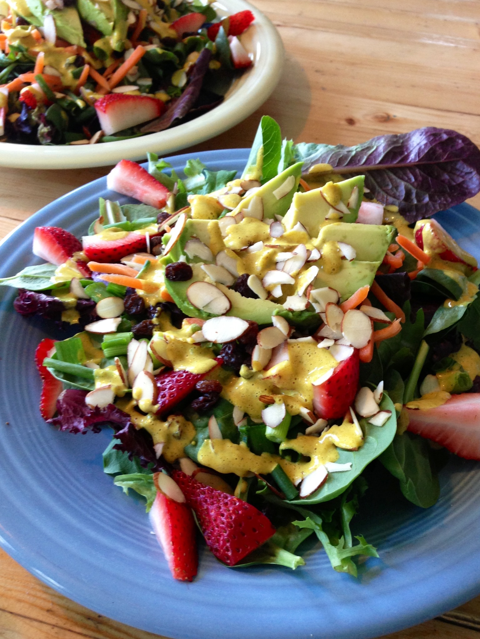summertime salad with curry tahini dressing - BeginWithin Nutrition