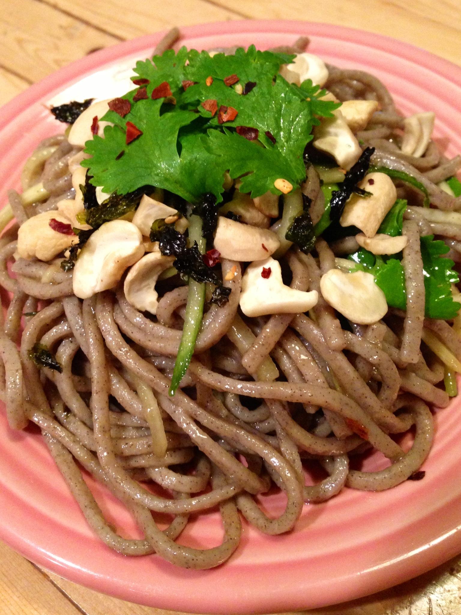 cold soba noodle salad - BeginWithin Nutrition