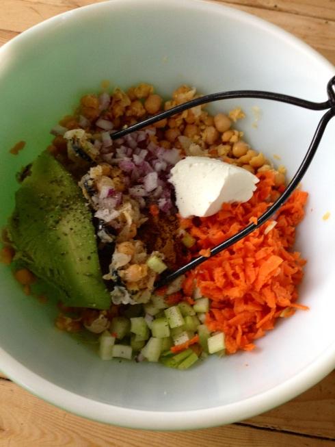 Chickpea of the sea mock tuna fish salad beginwithin for Tuna fish salad calories