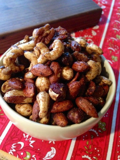 sweet and spicy roasted nuts - BeginWithin Nutrition