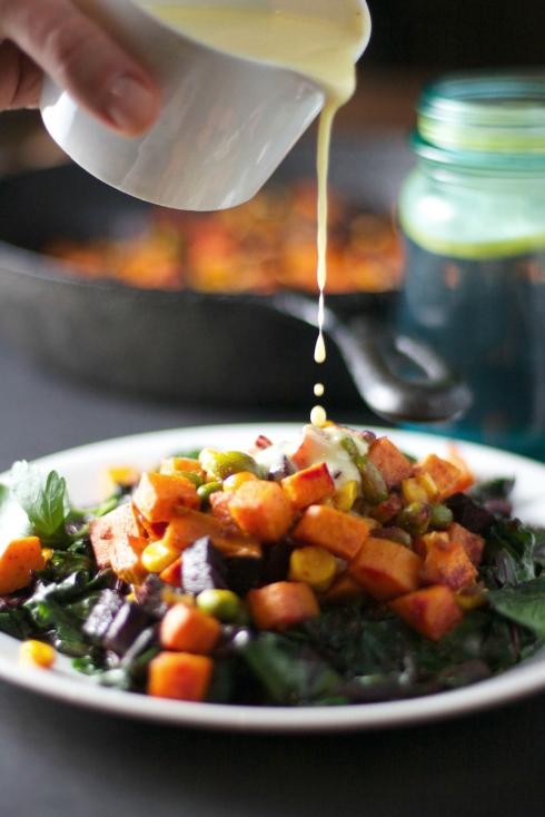 Sweet Beet Hash with Vegan Hollandaise Sauce!  A Meatless Monday Meal Idea! ~vegan, gluten free~