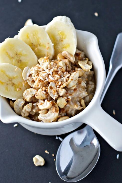 Coco Banana Cashew Steel Cut Oats ~two ways~vegan/gluten free~